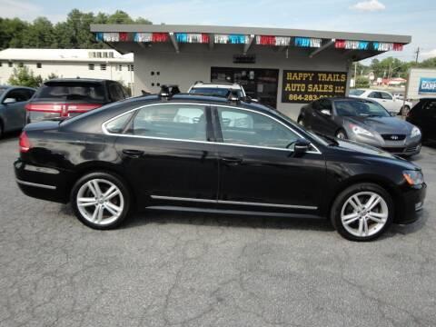 2013 Volkswagen Passat for sale at HAPPY TRAILS AUTO SALES LLC in Taylors SC