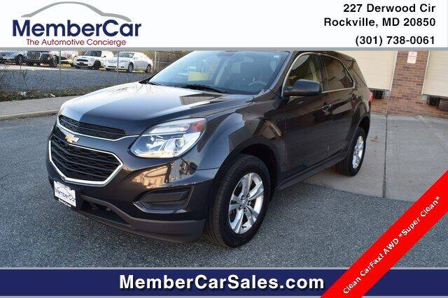 2016 Chevrolet Equinox for sale at MemberCar in Rockville MD