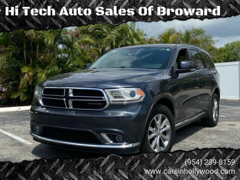 2015 Dodge Durango for sale at Hi Tech Auto Sales Of Broward in Hollywood FL