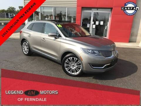 2016 Lincoln MKX for sale at Legend Motors of Detroit - Legend Motors of Ferndale in Ferndale MI