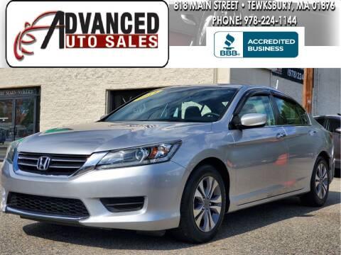 2014 Honda Accord for sale at Advanced Auto Sales in Tewksbury MA