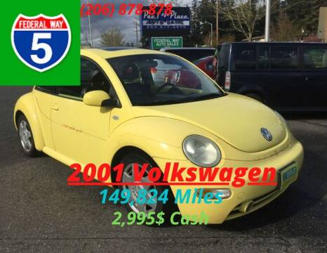 2001 Volkswagen New Beetle for sale at Federal Way Auto Sales in Federal Way WA