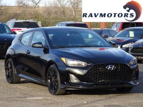 2019 Hyundai Veloster for sale at RAVMOTORS in Burnsville MN