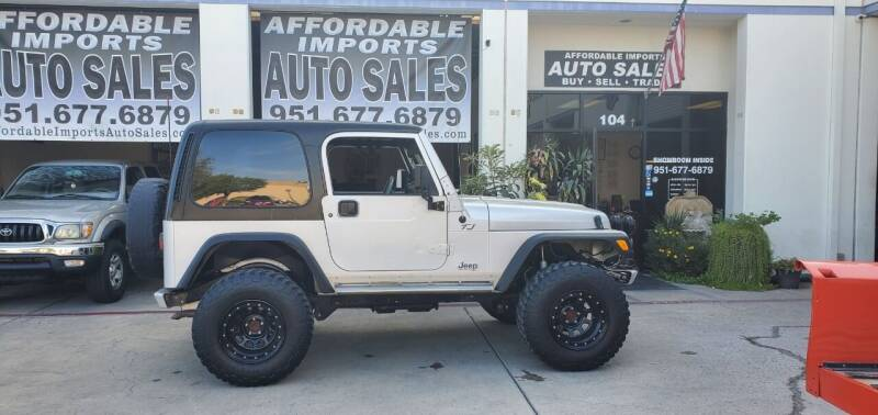 2002 Jeep Wrangler for sale at Affordable Imports Auto Sales in Murrieta CA