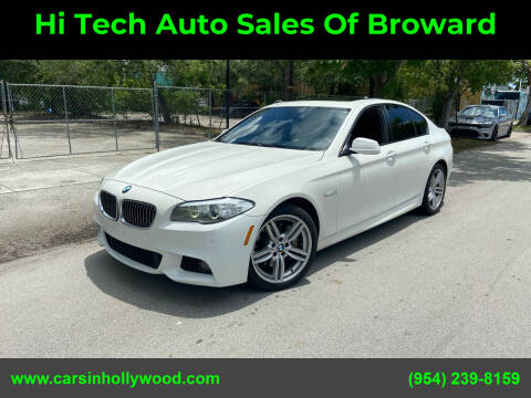 2012 BMW 5 Series for sale at Hi Tech Auto Sales Of Broward in Hollywood FL