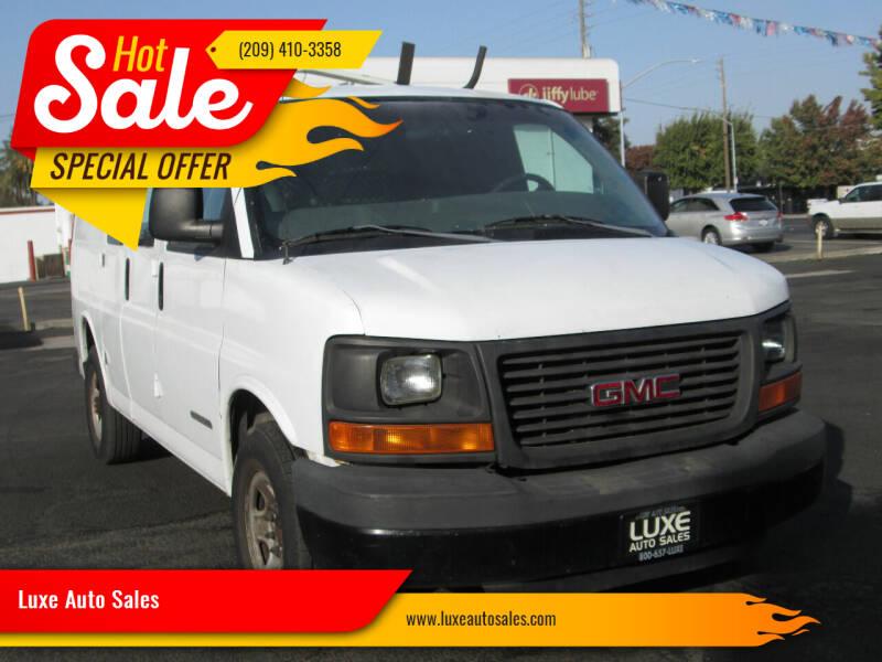 2007 GMC Savana Cargo for sale at Luxe Auto Sales in Modesto CA