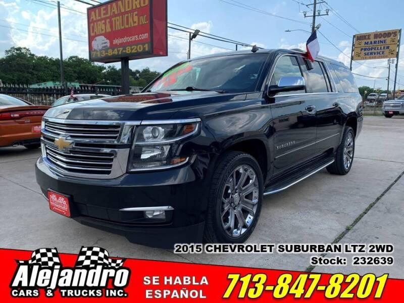 2015 Chevrolet Suburban for sale at Alejandro Cars & Trucks Inc in Houston TX