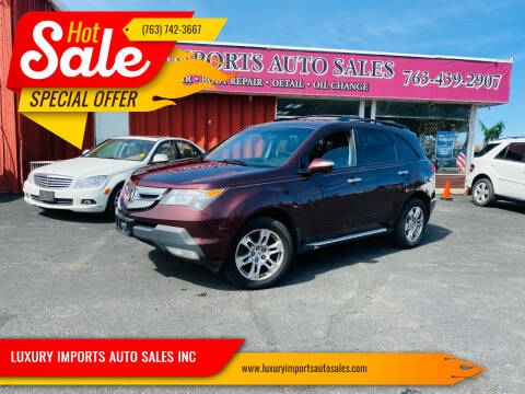 2009 Acura MDX for sale at LUXURY IMPORTS AUTO SALES INC in North Branch MN