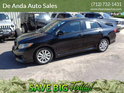2009 Toyota Corolla for sale at De Anda Auto Sales in Storm Lake IA