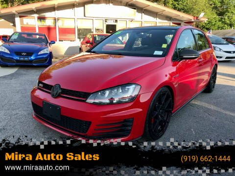 2016 Volkswagen Golf GTI for sale at Mira Auto Sales in Raleigh NC