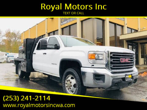 2015 GMC Sierra 3500HD for sale at Royal Motors Inc in Kent WA