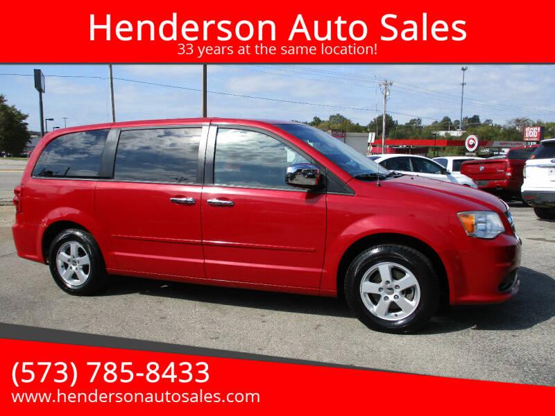 2013 Dodge Grand Caravan for sale at Henderson Auto Sales in Poplar Bluff MO