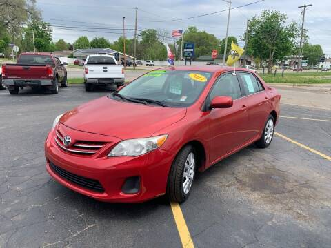 2013 Toyota Corolla for sale at L&T Auto Sales in Three Rivers MI