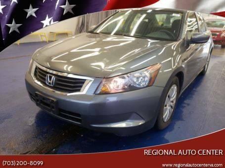 2009 Honda Accord for sale at REGIONAL AUTO CENTER in Stafford VA