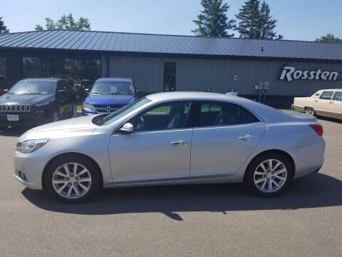 2015 Chevrolet Malibu for sale at ROSSTEN AUTO SALES in Grand Forks ND
