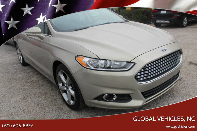 2015 Ford Fusion for sale at Global Vehicles,Inc in Irving TX