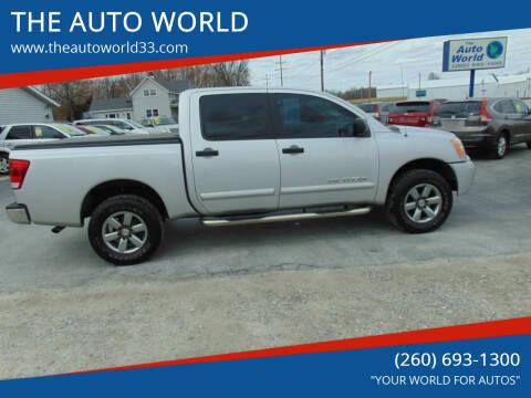2012 Nissan Titan for sale at THE AUTO WORLD in Churubusco IN
