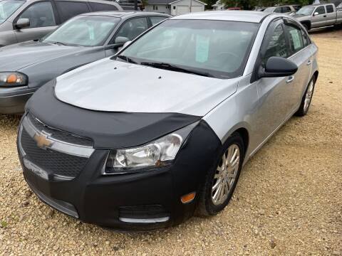 2012 Chevrolet Cruze for sale at Nelson's Straightline Auto - 23923 Burrows Rd in Independence WI