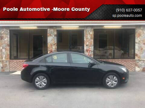 2014 Chevrolet Cruze for sale at Poole Automotive -Moore County in Aberdeen NC