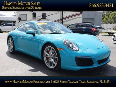 2017 Porsche 911 for sale at Hawley Motor Sales in Sarasota FL
