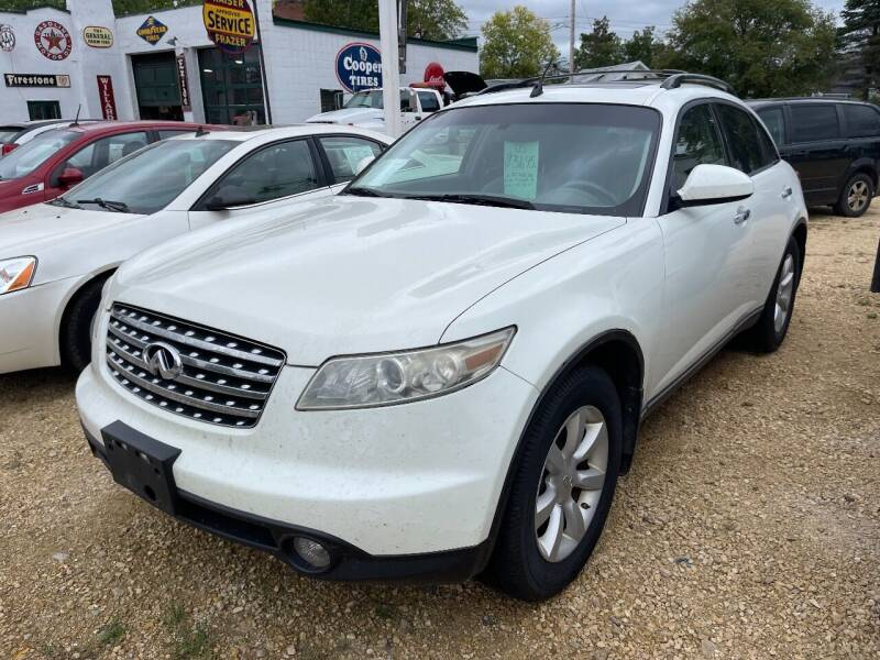 2005 Infiniti FX35 for sale at Nelson's Straightline Auto - 23923 Burrows Rd in Independence WI
