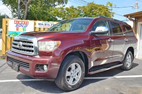 2008 Toyota Sequoia for sale at ALWAYSSOLD123 INC in Fort Lauderdale FL