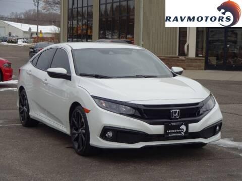 2019 Honda Civic for sale at RAVMOTORS 2 in Crystal MN
