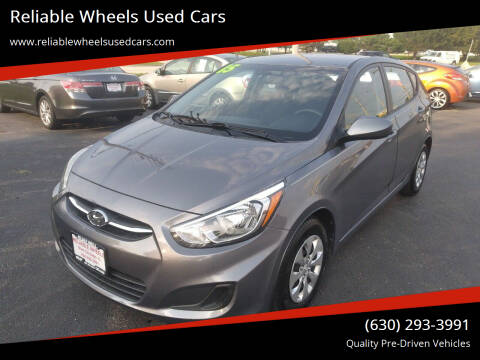 2015 Hyundai Accent for sale at Reliable Wheels Used Cars in West Chicago IL