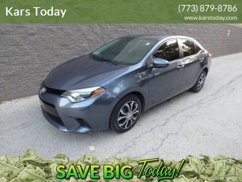 2015 Toyota Corolla for sale at Kars Today in Addison IL