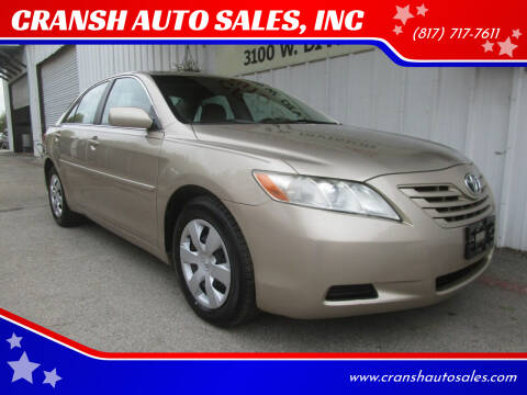 2007 Toyota Camry for sale at CRANSH AUTO SALES, INC in Arlington TX