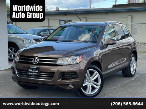 2014 Volkswagen Touareg for sale at Worldwide Auto Group in Auburn WA