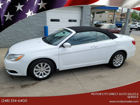 2012 Chrysler 200 Convertible for sale at Motor City Direct Auto Sales & Service in Pontiac MI
