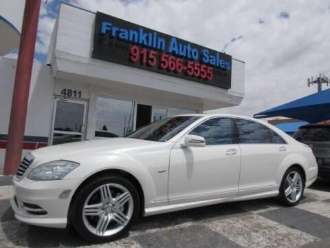 2012 Mercedes-Benz S-Class for sale at Franklin Auto Sales in El Paso TX