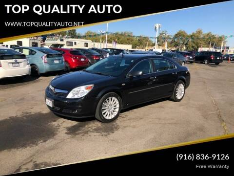 2008 Saturn Aura for sale at TOP QUALITY AUTO in Rancho Cordova CA