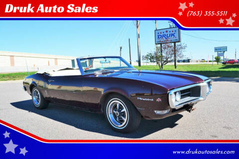 1968 Pontiac Firebird for sale at Druk Auto Sales in Ramsey MN