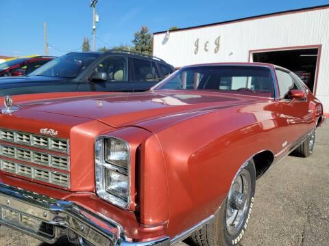 1977 Chevrolet Monte Carlo for sale at J & J Used Cars inc in Wayne MI