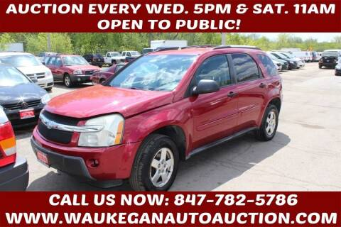2005 Chevrolet Equinox for sale at Waukegan Auto Auction in Waukegan IL