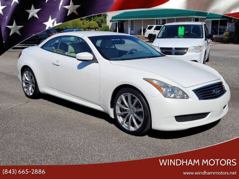 2010 Infiniti G37 Convertible for sale at Windham Motors in Florence SC