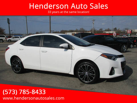 2014 Toyota Corolla for sale at Henderson Auto Sales in Poplar Bluff MO
