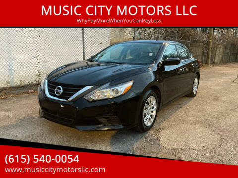 2017 Nissan Altima for sale at MUSIC CITY MOTORS LLC in Nashville TN