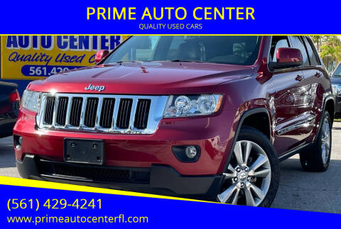 2013 Jeep Grand Cherokee for sale at PRIME AUTO CENTER in Palm Springs FL