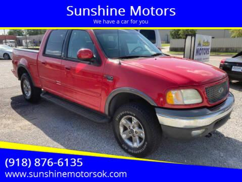 2003 Ford F-150 for sale at Sunshine Motors in Bartlesville OK