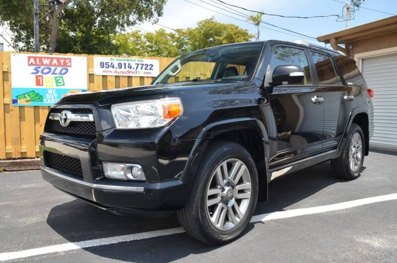 2013 Toyota 4Runner for sale at ALWAYSSOLD123 INC in Fort Lauderdale FL