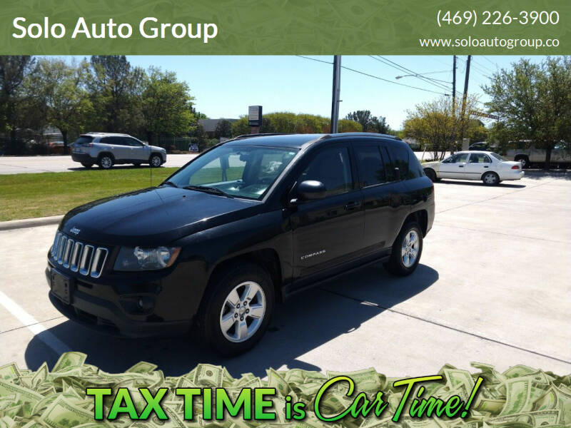 2014 Jeep Compass for sale at Solo Auto Group in Mckinney TX