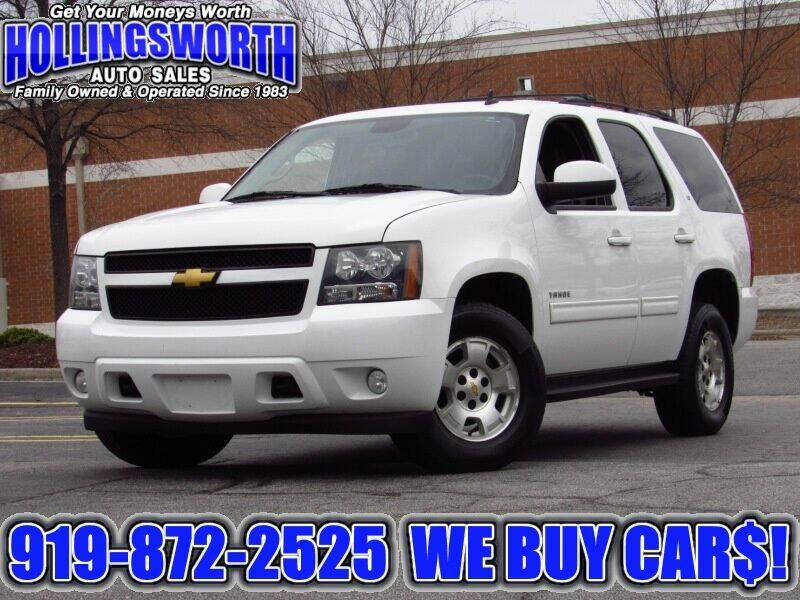 2013 Chevrolet Tahoe for sale at Hollingsworth Auto Sales in Raleigh NC