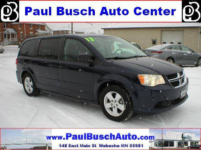 2013 Dodge Grand Caravan for sale at Paul Busch Auto Center Inc in Wabasha MN