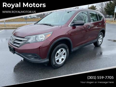 2014 Honda CR-V for sale at Royal Motors in Hyattsville MD