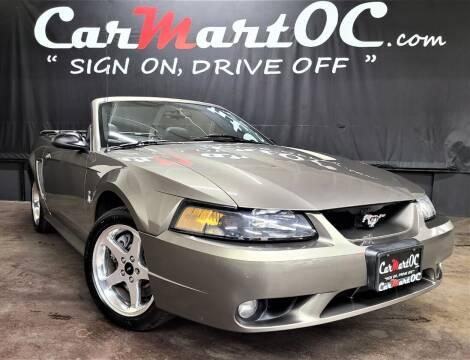 2001 Ford Mustang SVT Cobra for sale at CarMart OC in Costa Mesa, Orange County CA