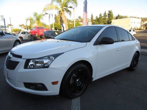 2013 Chevrolet Cruze for sale at Eagle Auto in La Mesa CA