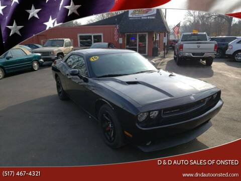 2010 Dodge Challenger for sale at D & D Auto Sales Of Onsted in Onsted   Brooklyn MI